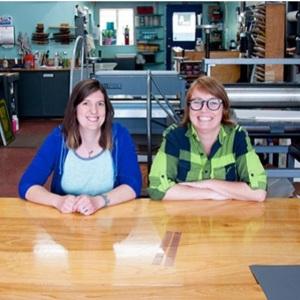 Double Dutch Press's Amanda and Katherine